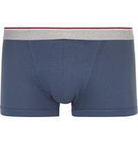Zimmerli Stretch Cotton Blend Boxer Briefs Navy
