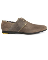 Paul And Joe Panama Taupe Split Suede Derbies