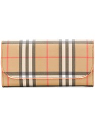 Burberry Checked Purse Brown