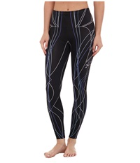 Cw X Revolution Tights Black Blueline Print Women's Casual Pants