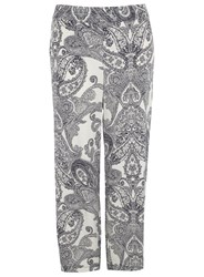 Evans Plus Size Paisley Wide Leg Trouser Multi Coloured