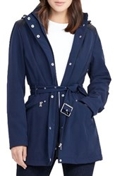 Lauren Ralph Lauren Women's Belted Hooded Soft Shell Jacket Regal Navy