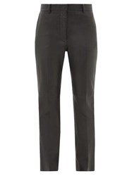 Joseph Coleman Leather Slim Leg Trousers Black