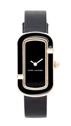 Marc Jacobs The Leather Watch Gold Black Black
