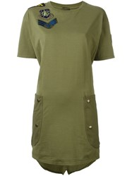 Mr And Mrs Italy Military T Shirt Dress Green