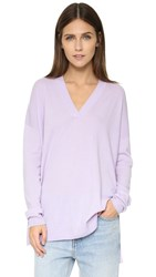 Vince Cashmere V Neck Sweater Water Lily