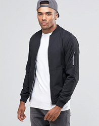 Pull And Bear Pullandbear Bomber Jacket In Black Black