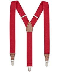 Club Room Men's Solid Stretch Suspenders Only At Macy's Red