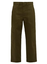 Valentino Cotton Cargo Trousers Khaki