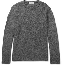 Tomorrowland Slim Fit Melange Cotton Blend Sweater Black