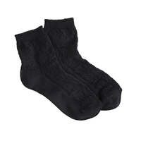 J.Crew Solid Fair Isle Ankle Socks Black