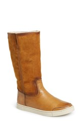 Women's Frye 'Gemma' Tall Genuine Shearling Lined Boot Camel Nubuck