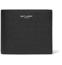 Saint Laurent Pebble Grain Leather Billfold Wallet Black