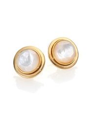 Kate Spade Polish Up Mother Of Pearl Stud Earrings Gold Mother Of Pearl