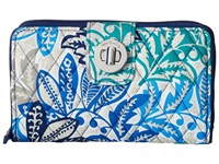 Vera Bradley Rfid Turnlock Wallet Santiago Wallet Handbags Blue