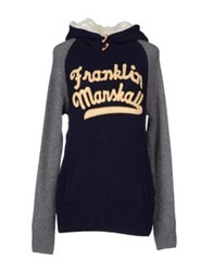 Franklin And Marshall Sweaters Dark Blue