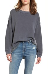 Stateside 'S Mixed Media Swing Sweatshirt Charcoal