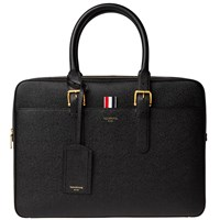 Thom Browne Leather Business Bag Black