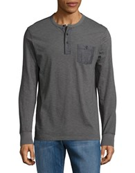 Lucky Brand Surf Long Sleeve Henley Shirt Gargoyle