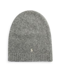 Polo Ralph Lauren Plush Alpaca Knit Beanie Grey
