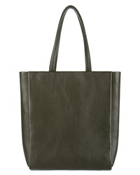 Jaeger Icon Leather Tote Green
