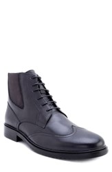Zanzara Morell Lace Up Chelsea Boot Grey Leather