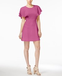 Kensie Flutter Sleeve Party Dress Bright Fuchsia