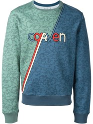 Carven Retro Skate Logo Sweatshirt Blue
