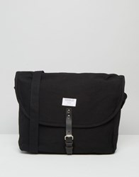 Sandqvist Jack Messenger Bag In Black Black Blue