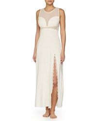 Fleurt Ever After Open Back Lace Gown Ivory