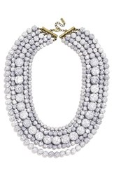 Women's Baublebar 'Globe' Multistrand Beaded Necklace Howlite