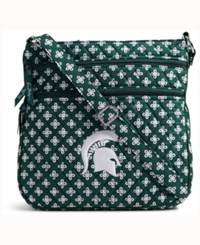 Vera Bradley Michigan State Spartans Triple Zip Hipster Green