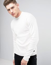 Only And Sons Knitted Sweater With Stepped Hem Cream
