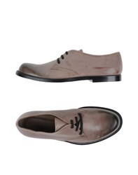 Marni Footwear Lace Up Shoes Men Dove Grey