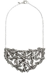 Pamela Love Maia Antique Silver Plated Brass Breastplate Necklace