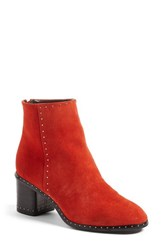 Rag And Bone Women's 'Willow' Studded Bootie Red Suede