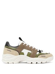 Ami Alexandre Mattiussi Running Lucky 9 Low Top Trainers Green Multi