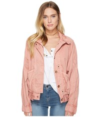 Free People Parachute Jacket Light Red Women's Coat Pink