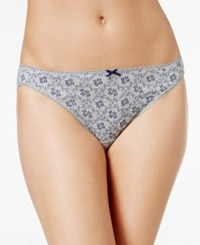 Charter Club Pretty Cotton Bikini Only At Macy's Grey Scroll