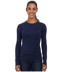 Smartwool Nts Mid 250 Crew Top Indigo Heather Women's Long Sleeve Pullover Blue