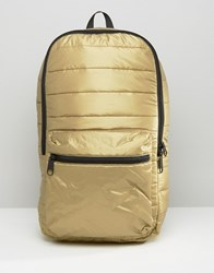 Converse Quilted Metallic Backpack Gold
