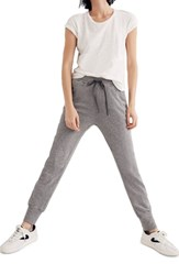 Madewell Plus Size Terry Trouser Sweatpants Heather Stonewall