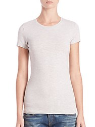 Majestic Filatures Fitted Viscose Tee Grey