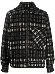Represent Check Print Jacket Black