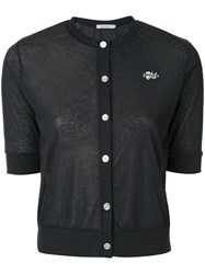 Guild Prime Short Sleeve Fitted Cardigan Blue