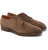 Edward Green Dover Suede Derby Shoes Mushroom