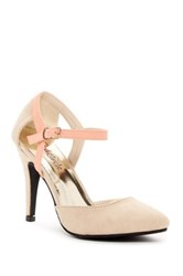 Red Circle Betty High Heel Pump Beige