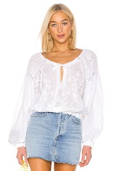 Free People Maria Maria Lace Blouse White