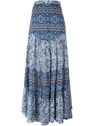 See By Chloe See By Chloe Floral Print Maxi Skirt Blue
