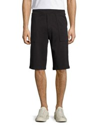 Vince Cotton Pull On Knit Shorts Black